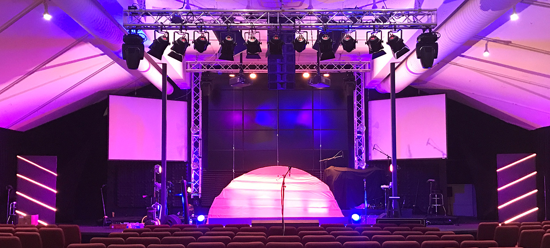 cloth sun church stage design ideas