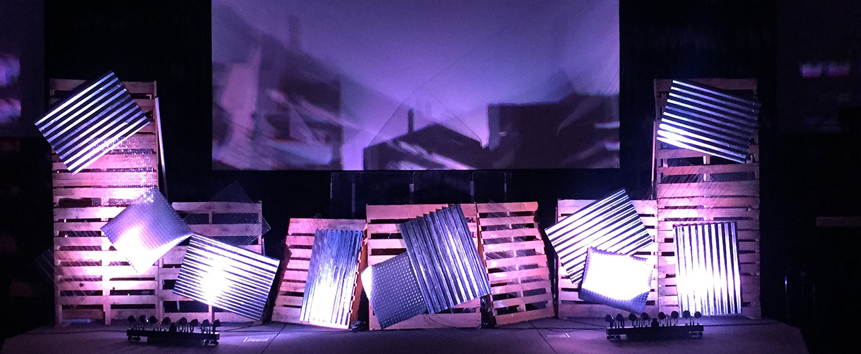 industrial yard church stage design ideas