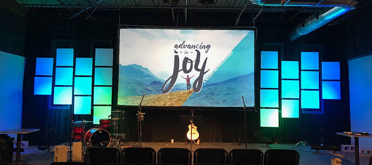 Staggered Church Stage Design Ideas