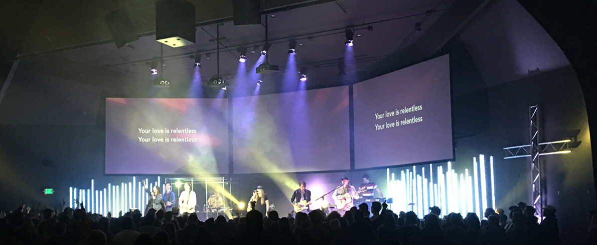 Led Forest Church Stage Design Ideas