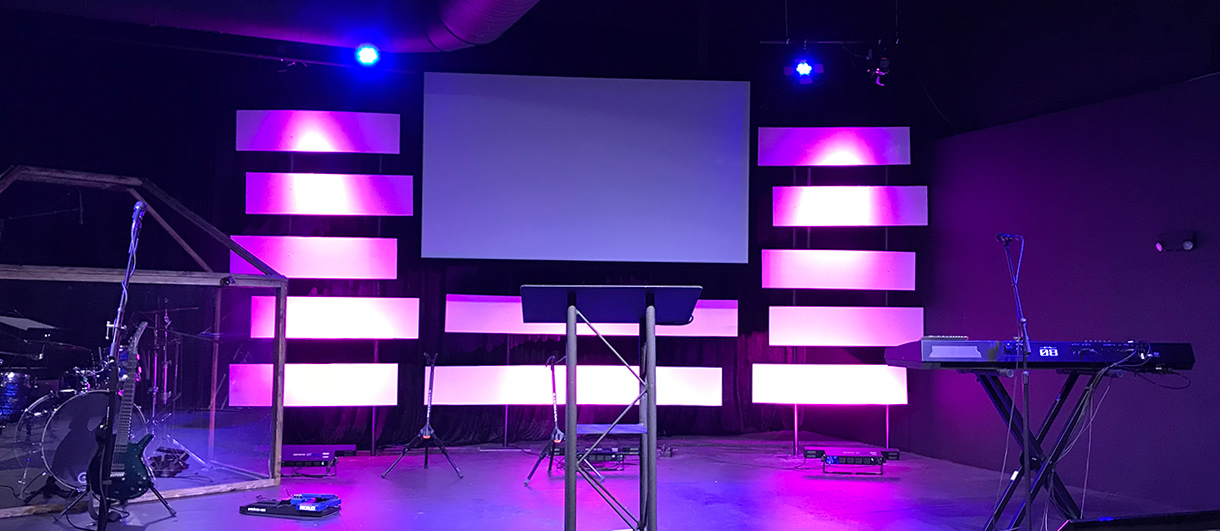 Stacked Bars | Church Stage Design Ideas