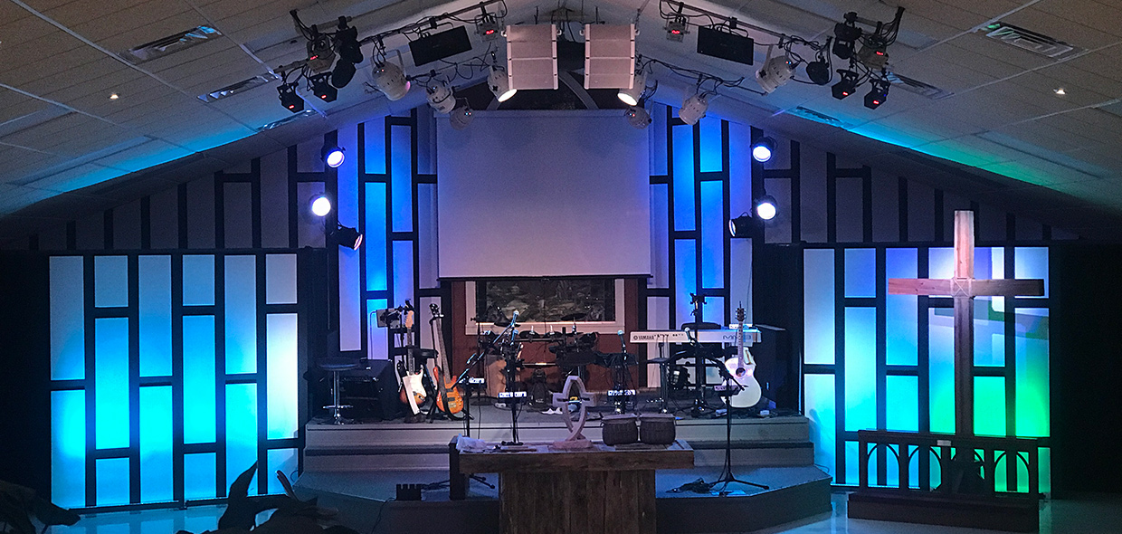 Coroplastered Walls Church Stage Design Ideas