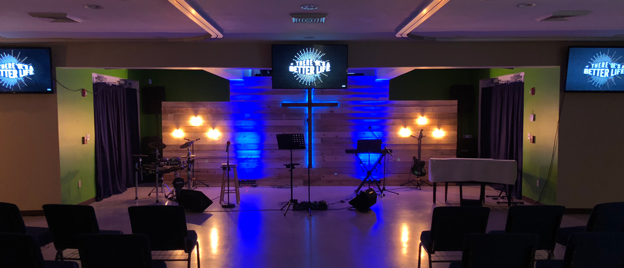 Spots Of Light Church Stage Design Ideas