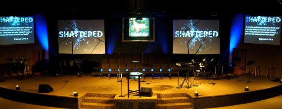 Shattered Hopes And Screens Church Stage Design Ideas