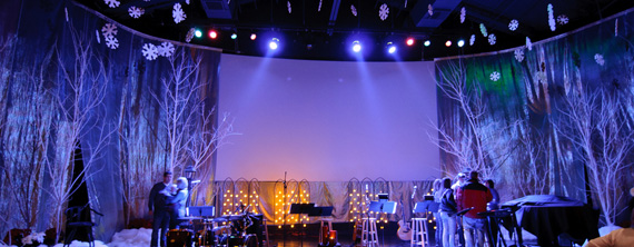 Frosted Light Bulbs >> Frosty Forestry | Church Stage Design Ideas