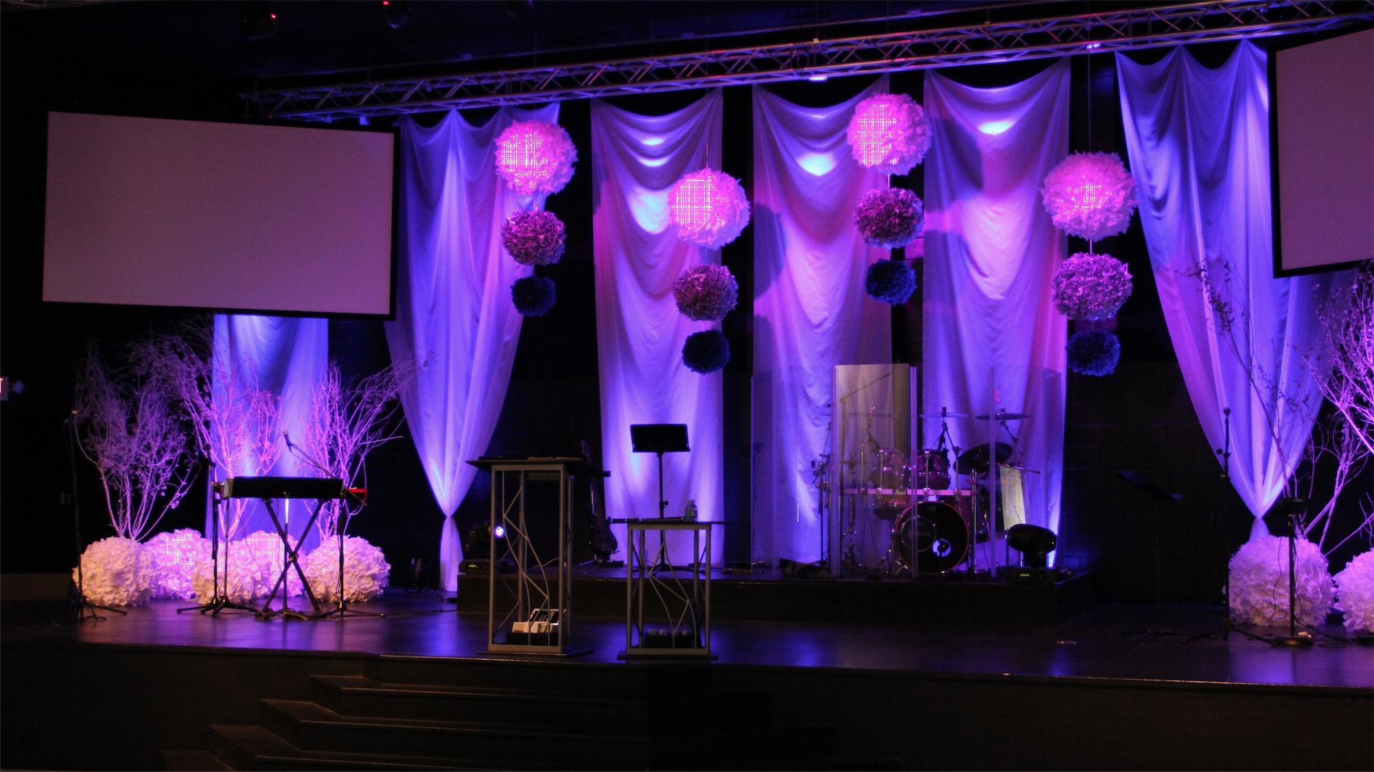 Snowballs Church Stage Design Ideas