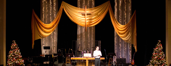 Silver And Gold Church Stage Design Ideas