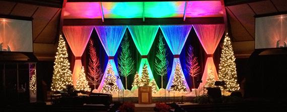 A Rainbow Christmas Church Stage Design Ideas Awesome Church Christmas Decorations Designs