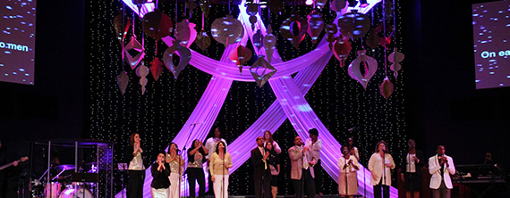 Cardboard Ornaments Church Stage Design Ideas