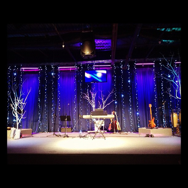 New Home Designs Latest December 2012: Church Stage Design Ideas