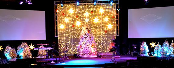 Shining Shimmering Splendid Church Stage Design Ideas