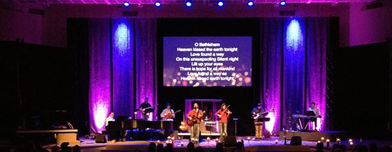 Bubble Wrap Streams Church Stage Design Ideas