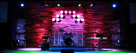 Dots on Wood | Church Stage Design Ideas