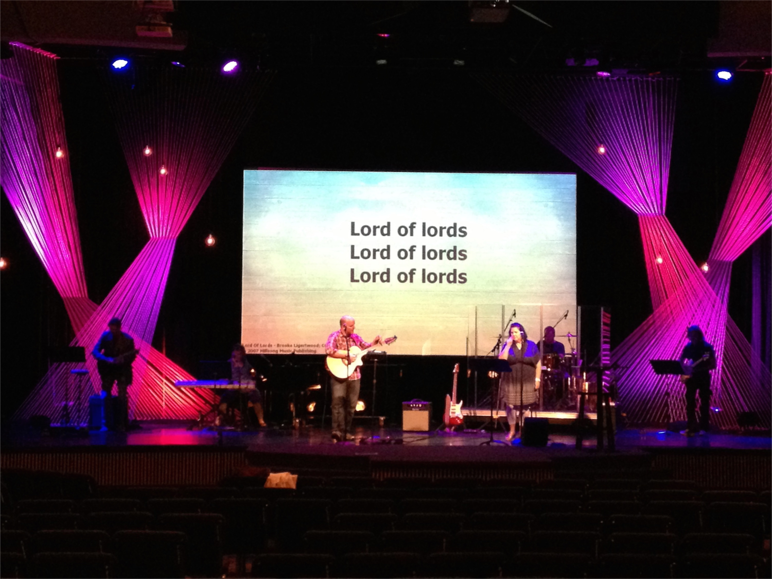 Strung Fabric Church Stage Design Ideas
