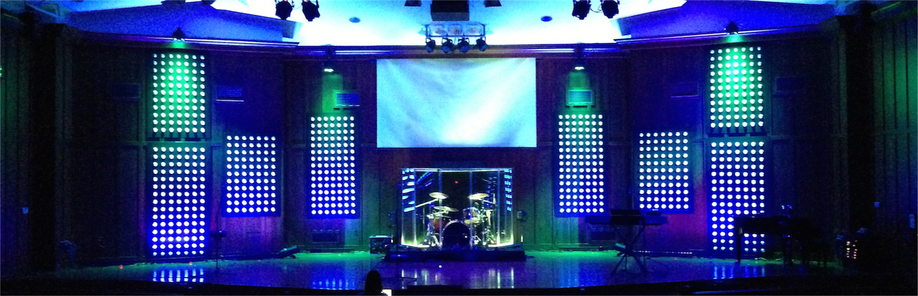 Dot Panels Church Stage Design Ideas