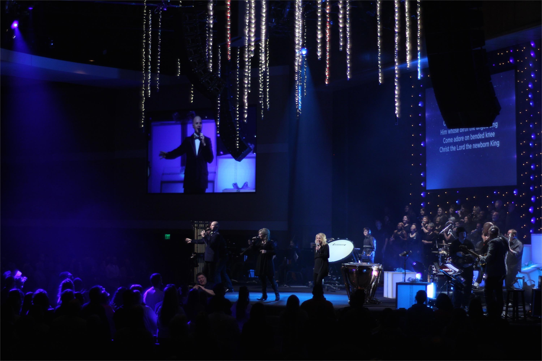 Falling Stars Church Stage Design Ideas