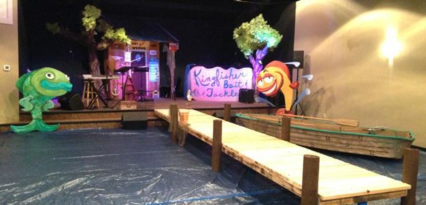 Go Fish Church Stage Design Ideas