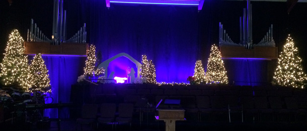 On Stage Nativity Church Stage Design Ideas