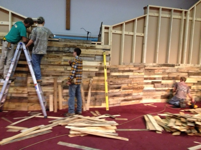 Form Fitting Wood Wall Church Stage Design Ideas