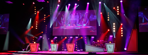 Retro Game Show Church Stage Design Ideas