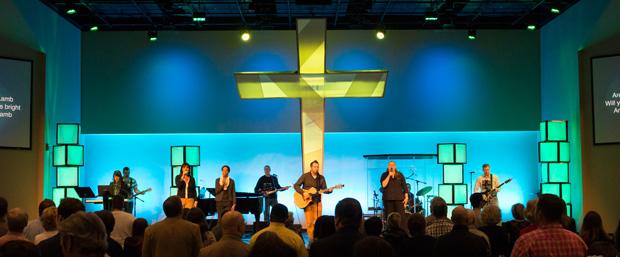 Mega Cross Church Stage Design Ideas