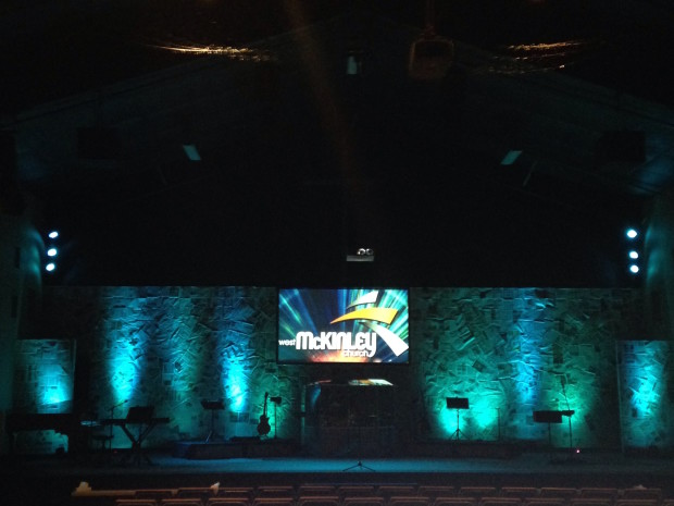 News Collage Wall Church Stage Design Ideas