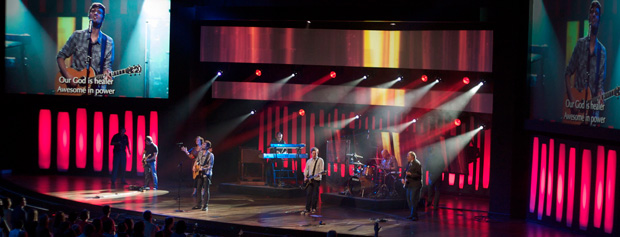 Led Bands Church Stage Design Ideas