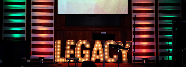 Legacy Letters Church Stage Design Ideas