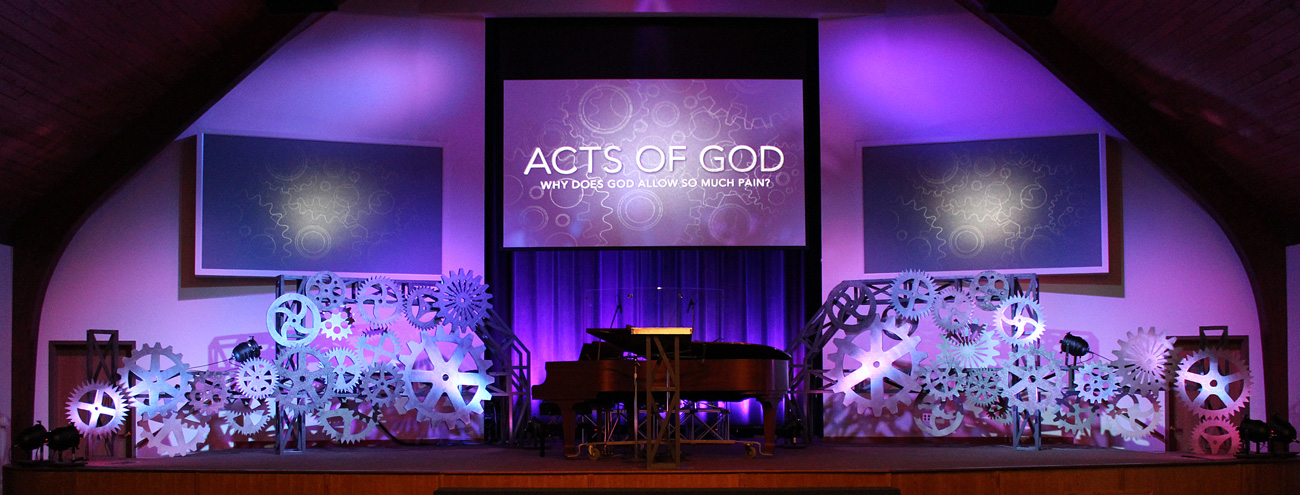 Geared Up Church Stage Design Ideas