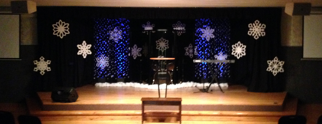 Flakes a falling church stage design ideas - Decorating shows ...