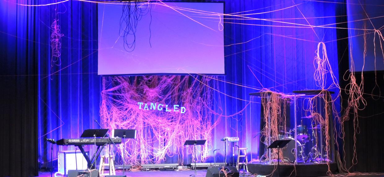Tangled Mangled Church Stage Design Ideas