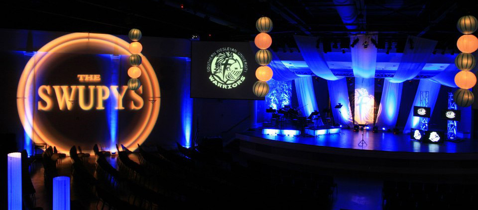 Swagged Awards Church Stage Design Ideas
