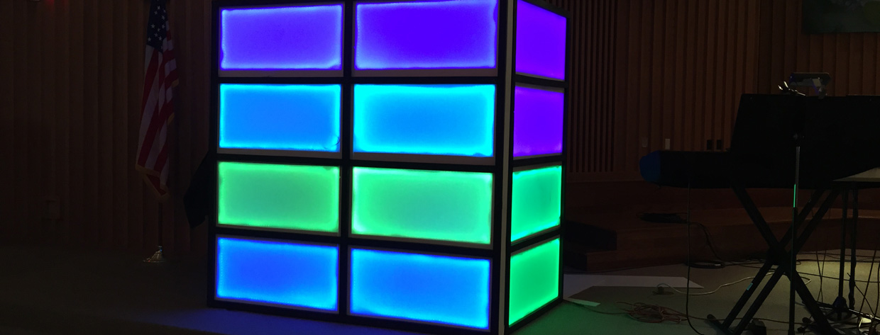 Led Strip Boxes Church Stage Design Ideas