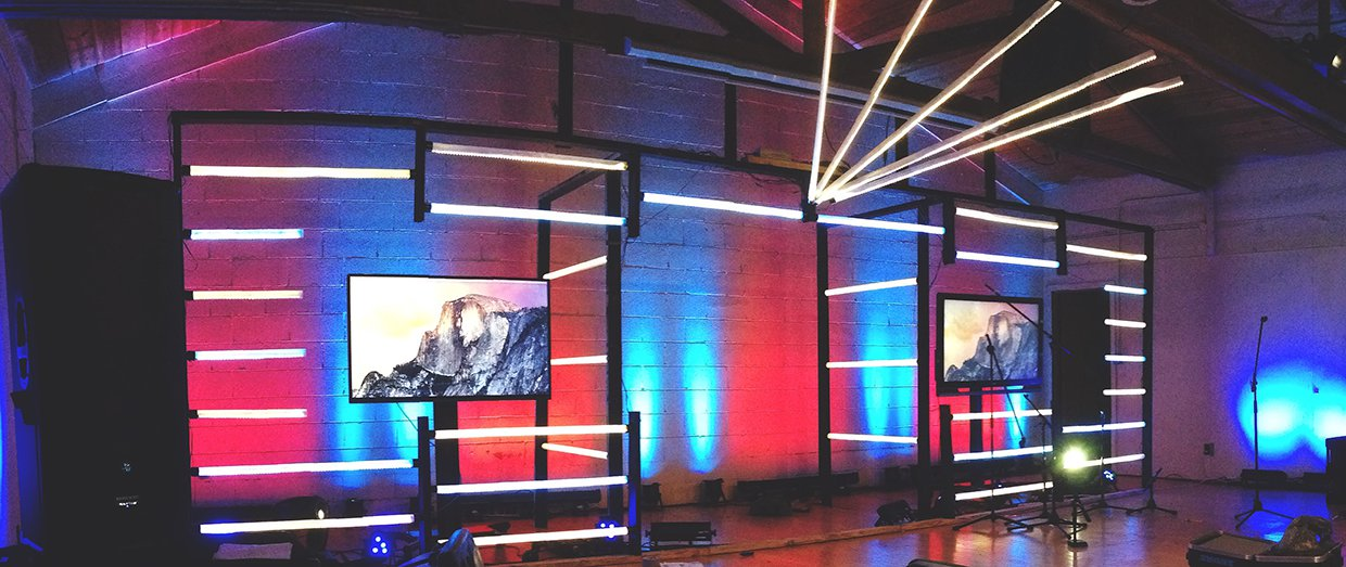 Light Bars Church Stage Design Ideas