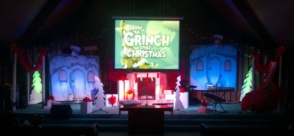 Grinchy Church Stage Design Ideas