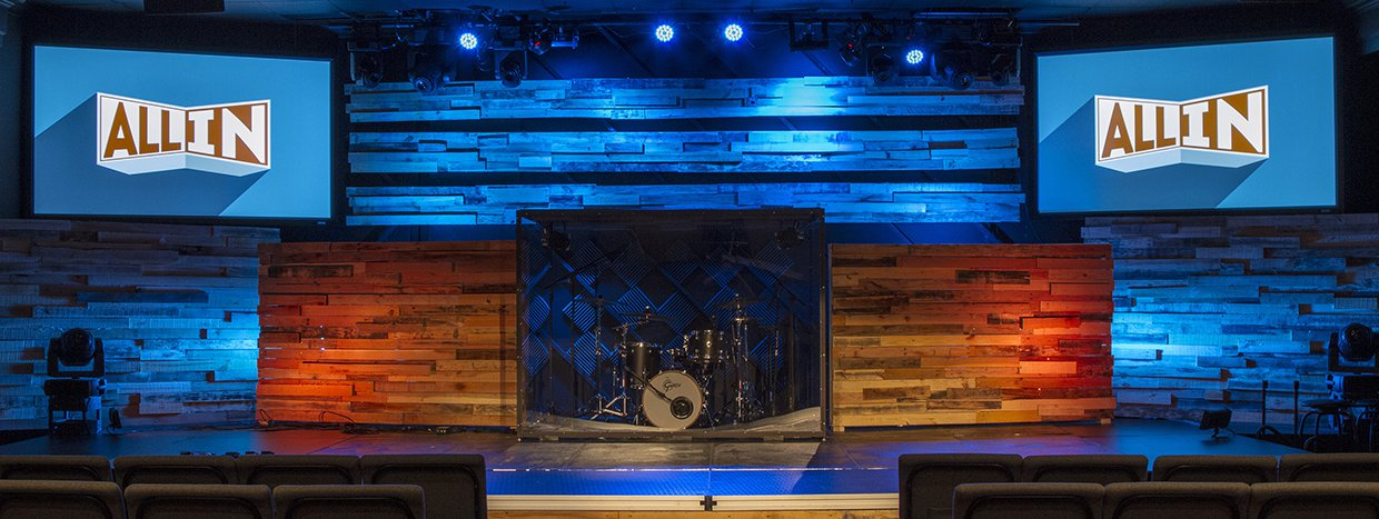 Bi Pallets Church Stage Design Ideas