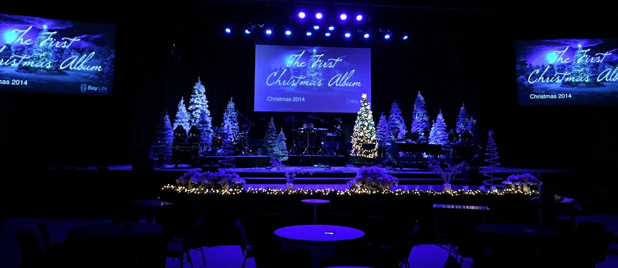 Christmas Album Church Stage Design Ideas
