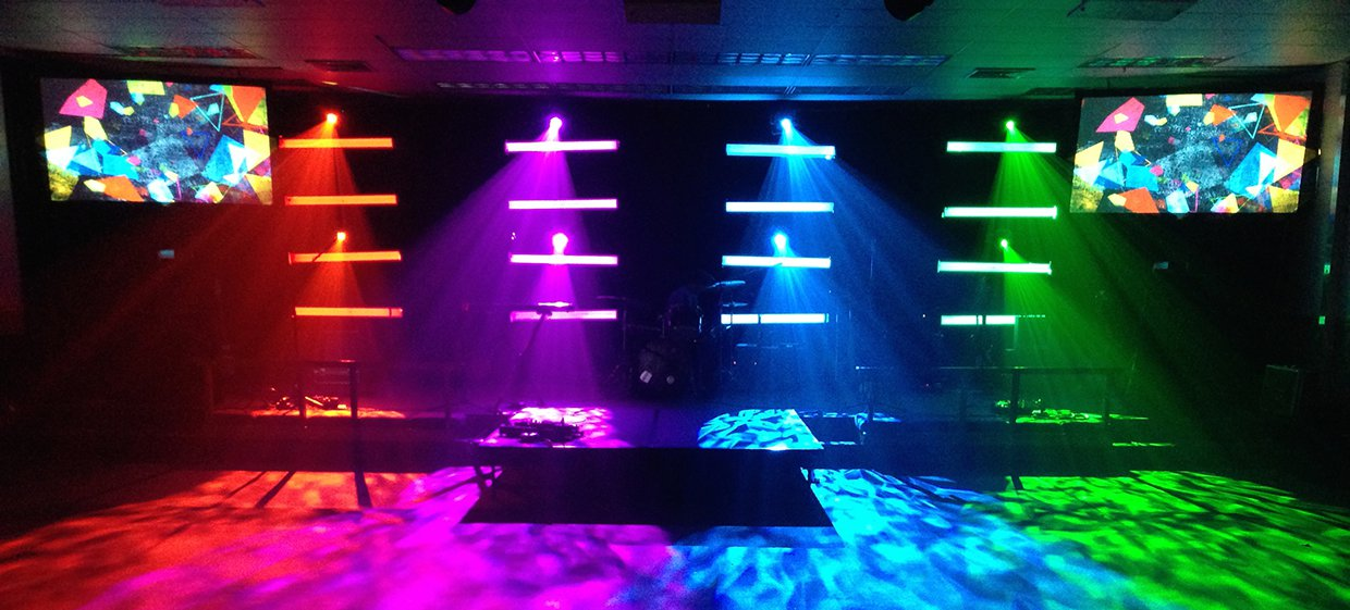 Diy Light Bars Church Stage Design Ideas