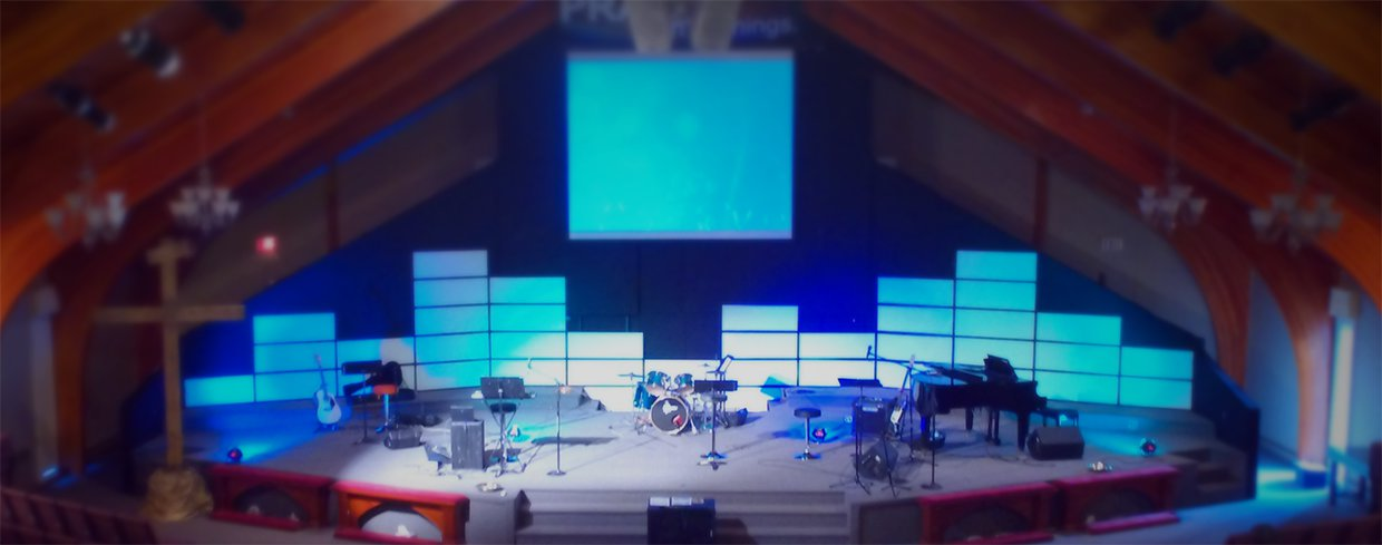 Panel Levels Church Stage Design Ideas