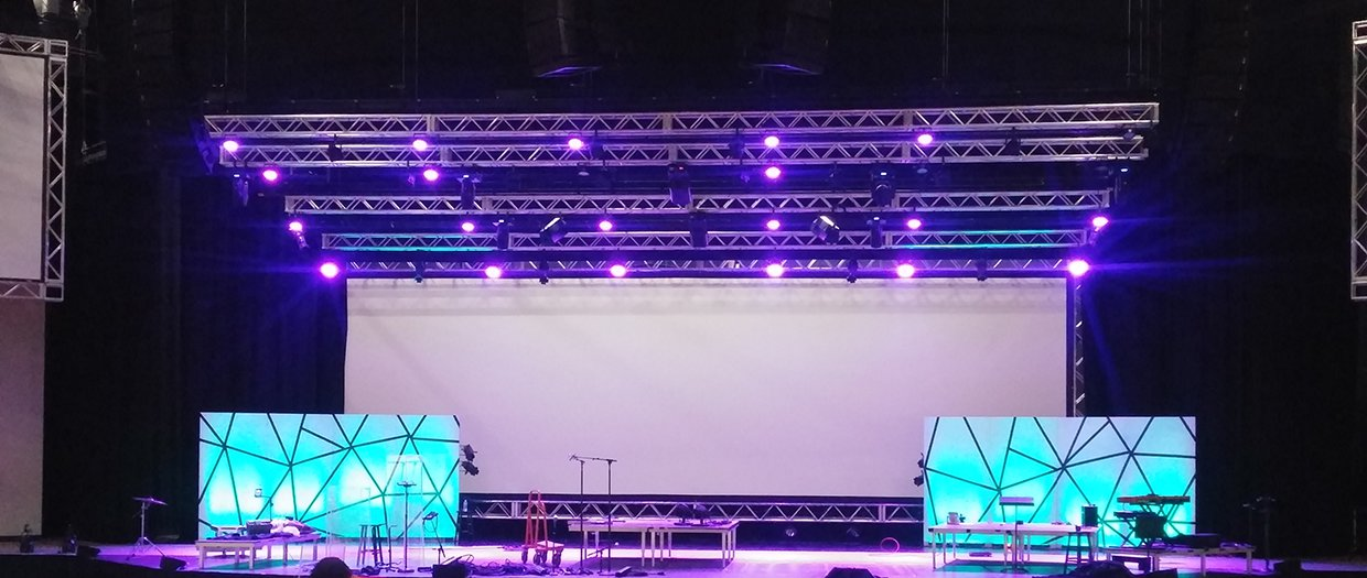 Shatter Screens Church Stage Design Ideas