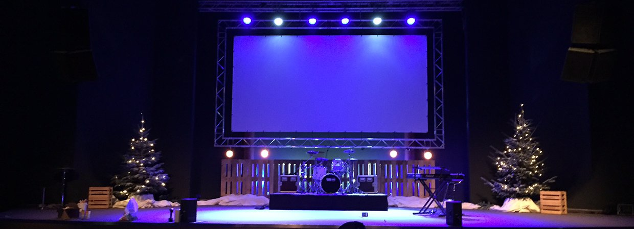 Fence Christmas Church Stage Design Ideas