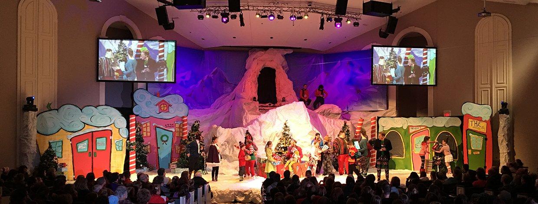 Mt Grinch Church Stage Design Ideas