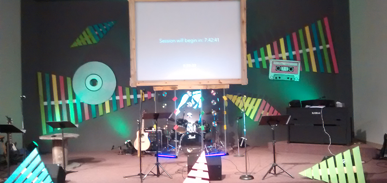 Party Like It S 1999 Church Stage Design Ideas