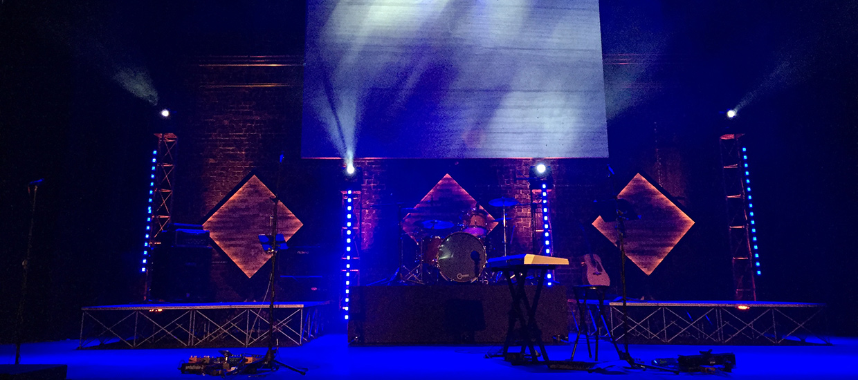 Glowing Woods Church Stage Design Ideas