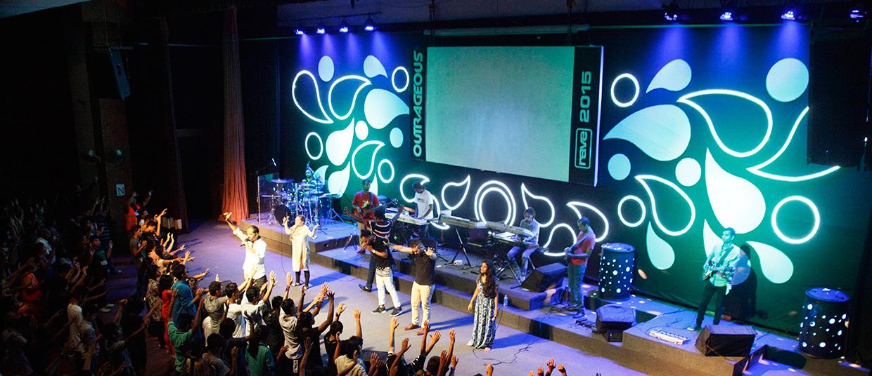 Swirled World Church Stage Design Ideas