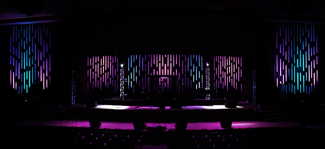 Patterned Pvc Church Stage Design Ideas
