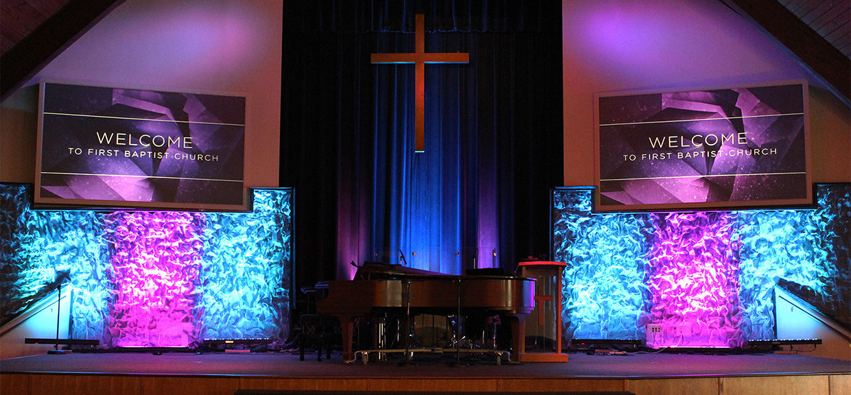 Ripple Wall Church Stage Design Ideas