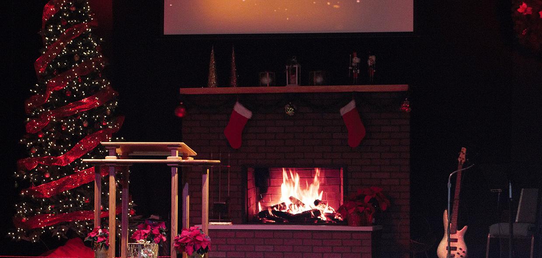 Christmas Fire | Church Stage Design Ideas