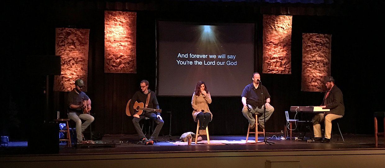 Portable Screens Church Stage Design Ideas