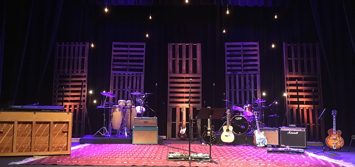 Stacked Stripes Church Stage Design Ideas